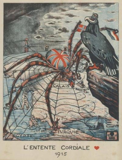 20世紀の戦争プロパガンダ地図12点、敵はタコ | ナショナルジオ ...