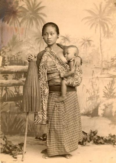 エリザ・シドモアが撮影したジャワ島の女性