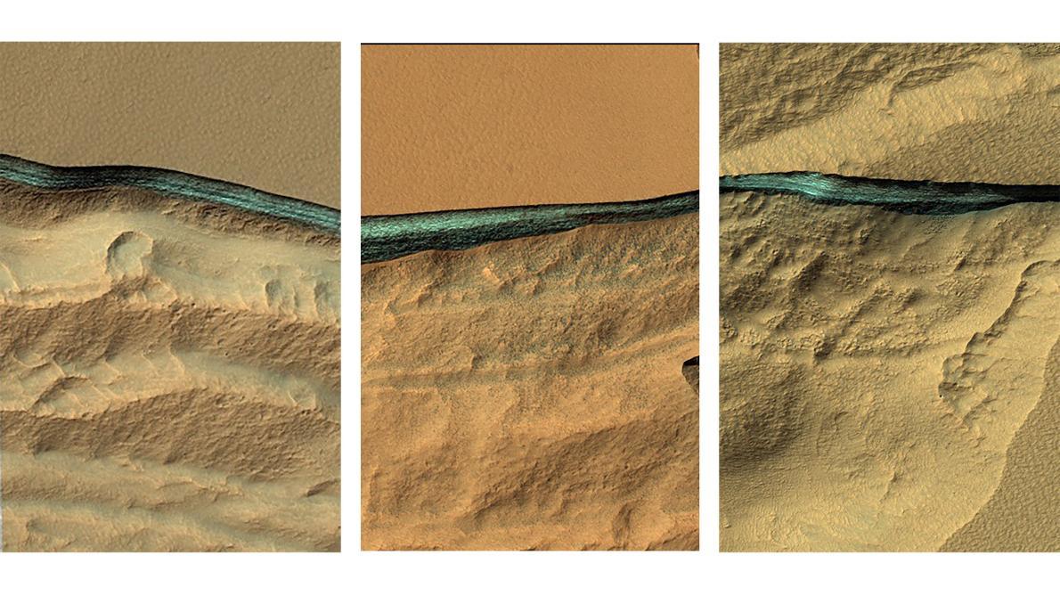 火星の地下1~2mに氷の層発見、採水に便利