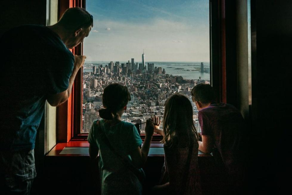 マンハッタンの街並みを一望