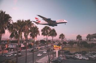 カリフォルニアの空の旅