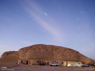 ワディ・アル=ヒタン(「クジラの谷」)保護区のベースキャンプ(エジプト)