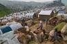 北キブ州のルバヤ・キャンプ。政府軍と、ルワンダの支援を受けた反乱グループ「M23」の戦闘で家を失った5万人が暮らしている。
