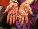 メンディの手、インド