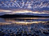 サンダー湖の夕焼け