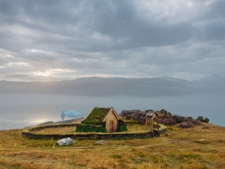 グリーンランドの木造教会