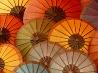 色とりどりの傘、ラオス