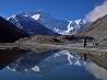 水に映るエベレスト、チベット