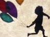 風船と少年、インド