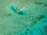 水没した飛行機、バハマ