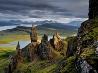 玄武岩の岩山、スコットランド
